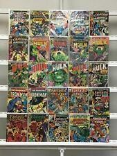 Vintage Marvel  Captain America Hulk Fantastic Four Iron Man Marvel 25 Lot Comic