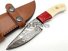 UD CUSTOM MADE FIXED BLADE 1095 DAMASCUS ART HUNTER FULL TANG SKINNER KNIFE 618