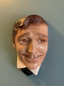 VTG CLARK GABLE CLAY ART San Francisco CERAMIC WALL FACE MASK circa 80's