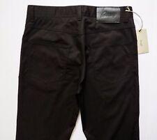 $725 BRIONI Black Brushed Cotton Jeans Pants Trousers Size 32 US 48 Euro
