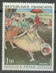 France 1970 MNH Mi 1732 Sc 1276 Dancer with Bouquet,by Edgar Degas **