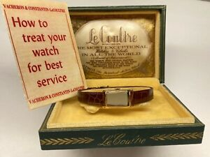 beautiful vintage swiss made lecoultre ladies wristwatch with box & papers 🇨🇭