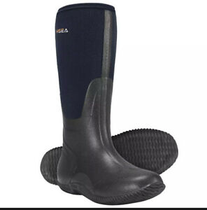 Hisea Men's Rain Snow Boots Insulated Hunting working Fishing Blue Size 7 New
