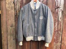 Mens Vintage ACA Joe 100% Wool Melton Bomber Jacket Coat