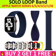 SOLO Elastic Belt Loop Silicone Band Strap for Apple Watch Series 6 SE 5 4 3 2 1