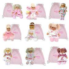 More details for personalised rag doll baby's 1st birthday new baby flower girl christening gift