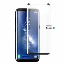 New 3D Samsung Galaxy S8 100% Genuine Tempered Glass Screen Protector Black