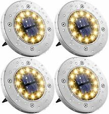 4 Pack 12LED Solar in Ground Lights Garden Waterproof Path Lawn Lights Landscape