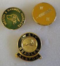 Foxhound caza Esmalte insignias X 3, Weston & Banwell aguiluchos W.H. w&tv Beagles