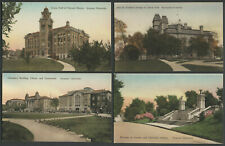 Syracuse University NY: Four c.1920s-30s Hand-Colored Albertype Postcards NICE