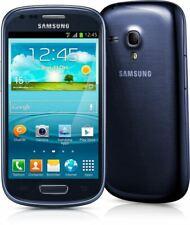 Samsung Galaxy SIII S3 Mini (unlocked) Pebble Blue i8190 Android Phone GRADE A