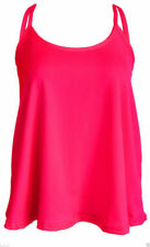 Maglie e camicie da donna rosa elasticizzato senza maniche