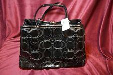 Coach Purse  F19215 Signature Stitched Patent Genuine Leather Handbag NEW w/Tags