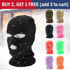 3 Hole Full Face Mask Ski Mask Winter Cap Balaclava Beanie Tactical Hat #