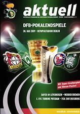 DFB-Pokalendspiel 2009 Bayer 04 Leverkusen - SV Werder Bremen, 30.05.2009