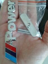 For Bmw M Power Emblem Badge 3D Metal Chrome Auto Car Grille ( Fast Shipping)