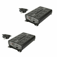 Audiopipe 1300 Watt MOSFET 4 Channel Amp Car Audio Speaker Amplifier (2 Pack)