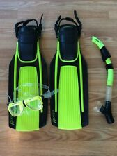 U.S. Divers Fins & Snorkel w/ Sherwood Boots & Goggles GREAT CONDITION