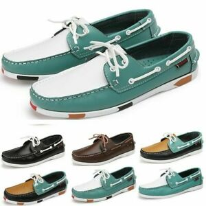 Men Loafers Shoes Driving Shoes Fashion Boat Leather Shoes Flat Business Pumps