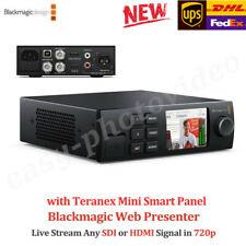 Blackmagic Design Web Presenter Teranex Smart Panel SDI HDMI Video switchers new