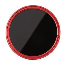 FOTGA 77mm Fader Variable ND Filter Neutral Density Graufilter ND2 ND8 ND400 Red