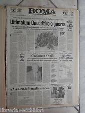 ROMA 30 novembre 1990 ONU Iraq Gladio Craxi Gaspare Giudice su Kafka Coca Cola