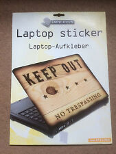 Laptop Cover Skin Sticker - Keep Out No Trespassing - 27.5 x 36.6cm