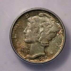 1931-P 1931 Mercury Dime ICG MS64