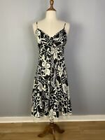 Azzara Womens Size Large A - Line Midi Dress With Lace Trim V - Neck