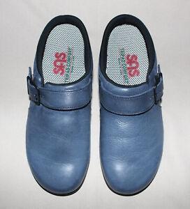 SAS Clog Slip On Loafer Blue Flag Leather Tripad Comfort Ladies 6M USA New