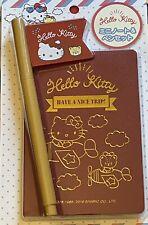 Sanrio Hello Kitty Notebook & Pen Set Travel Stationary