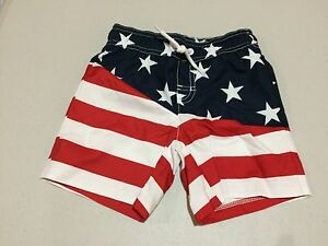 NWT Gymboree Boy July 4th American Flag Star Swim trunk shorts Many sizes