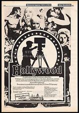 HOLLYWOOD : American Silent Film__Original 1980 Trade print AD_poster__TV promo