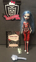 HTF MONSTER HIGH Ghoulia Yelps doll w/ pet owl & Brush diary 1st Wave Excellent