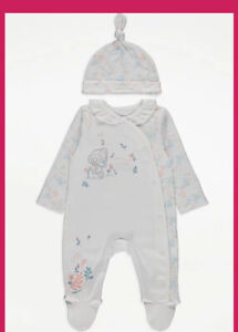 Tiny Tatty Ted Baby Girls Sleepsuit  And Hat Brand New