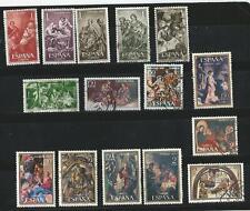 (L116) _ ESPAÑA - NAVIDAD - USADOS 35 SELLOS 1960 A 1998 - 2 fotos