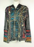 Hippy Boho Hoodie Patchwork Jacket Razorcut Embroidery Top Festival Cotton PJ11