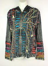 Hippy Boho Hoodie Patchwork Jacket Razorcut Embroidery Top Festival Cotton PJ11