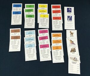 DISNEY PIXAR MONOPOLY REPLACEMENT PROPERTY CARDS / COMPLETE SET / 2009