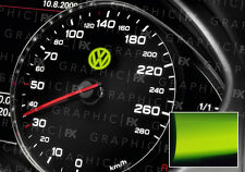 X8 Premium Volkswagon VW Logo Voiture Intérieur Glow in the Dark Speedo Vinyle Autocollant