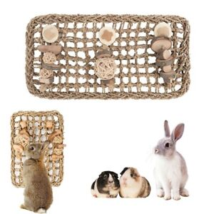 Bed Bunny Small Animal Supplies Rabbit Toy Grass Chew Mat Teeth Grinding Toys AU