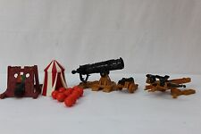 Weapons and Warriors Set of 4 Siege Weapons Cannons w/ Ammo Vintage Board Game