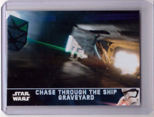 CHASE THROUGH THE SHIP GRAVEYARD 2017 Star Wars The Force Awakens Holofoil #36