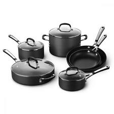 Calphalon 10 Piece Cookware Set Durable PFOE Free Nonstick Coating SA10H
