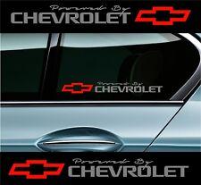 2 POWERED BY CHEVROLET Chevy Stickers Decals Camaro sticker (#TSH) SILVER-Red