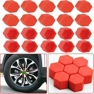 20Pcs Red Car Wheel Nut Lug Dust Cover Cap Protector Tyre Bolt Hub Screw Cap