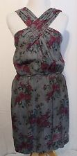 "Chelsea & Violet Size L Grey ""Culture Club"" Dress NWT Purple Floral NWT $128.00"