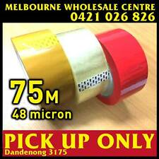 75 Meter, 48 Micron Clear - Packing Packaging Sticky Tape Melbourne cheapest