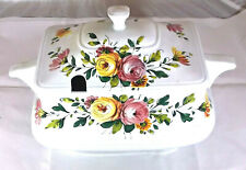 Ironstone, Stoneware Large Soup Tureen Serving Dish, Italy, Hand Painted