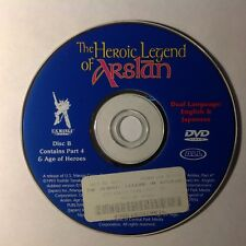 The Heroic Legend of Arslan dvd dual Language Disc B Contains Part 4 Age of Hero